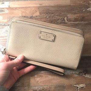Kate Spade Wallet/Phone Carrier/Clutch  - Beige